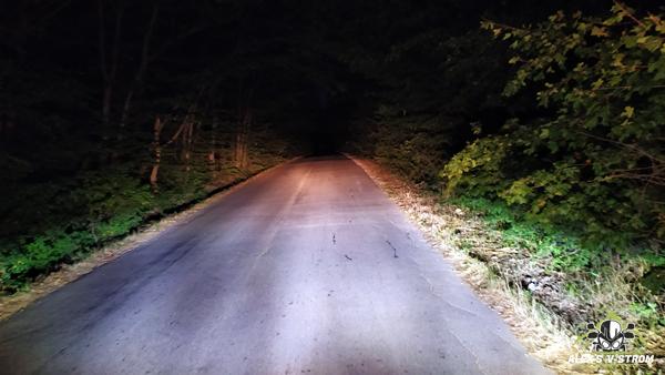 Осветяване на пътя с LED светлини и дълги
