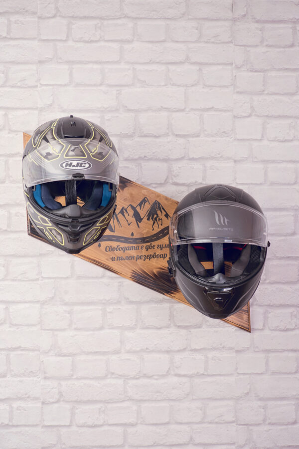 Wooden helmets stand 3
