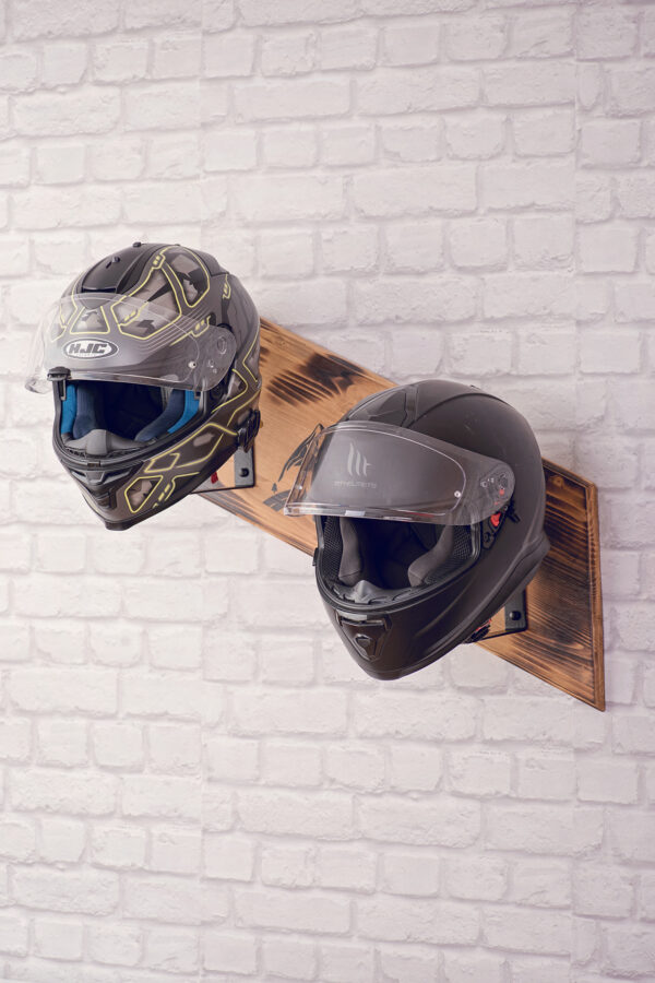 Wooden helmets stand 2