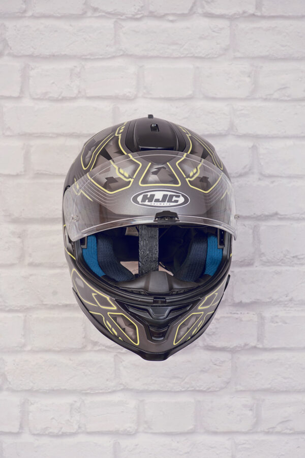 Helmet holder for wall without wooden base