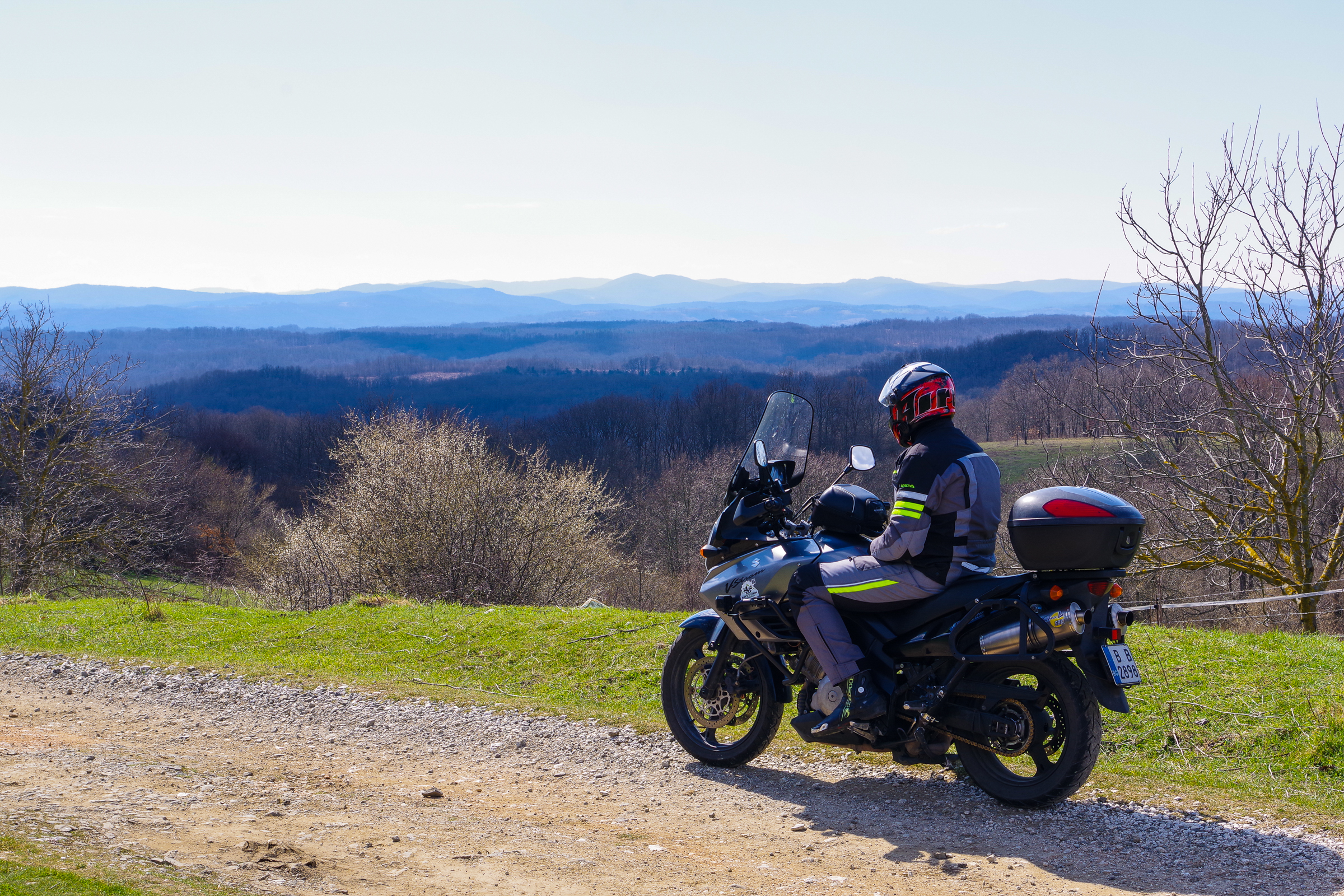 Motorcycle on beautiful mountain view